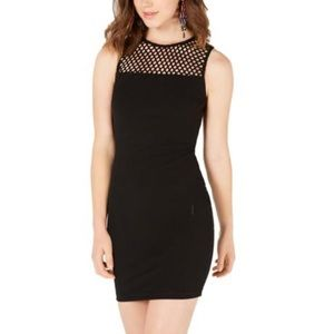 B Darlin Black Caged Mesh Bodycon. Sz 20. NWT.